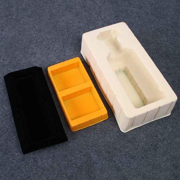 彩色三合一组合无盖环保吸塑盒定制
