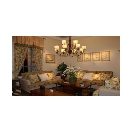 帝璟美式沙发简约实木乡村田园风客厅