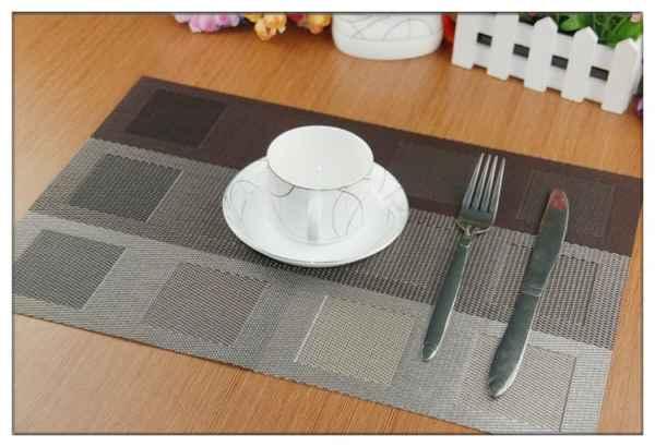 pvc西餐垫欧式格子餐桌垫
