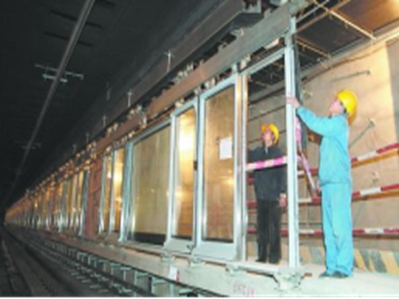 地铁屏蔽门制造