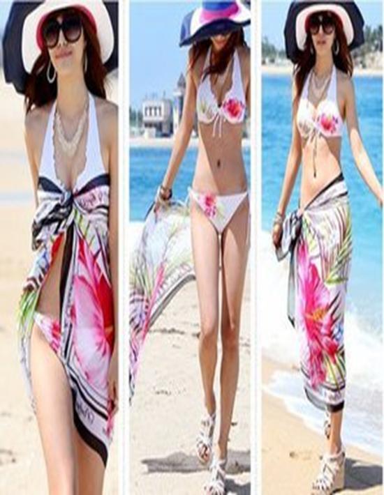性感沙滩三件套比基尼泳衣