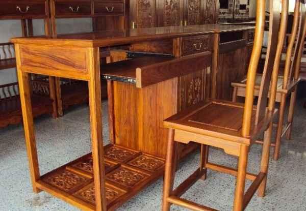 花梨木电脑桌
