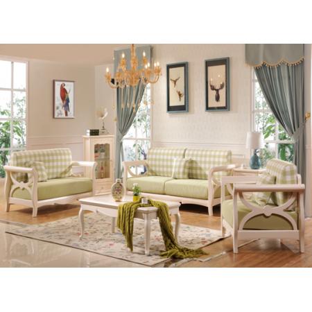 简约法式实木客厅123组合沙发