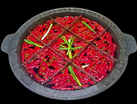 传统九宫格火锅