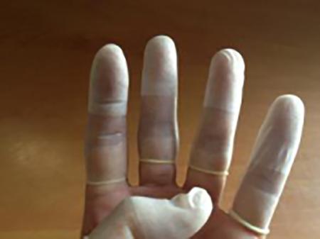 透明磨砂防静电指套