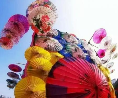 开业期间传统油纸伞