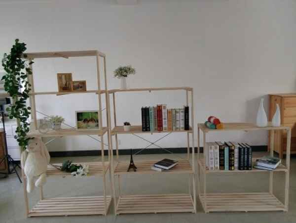 家用简约松木納物架