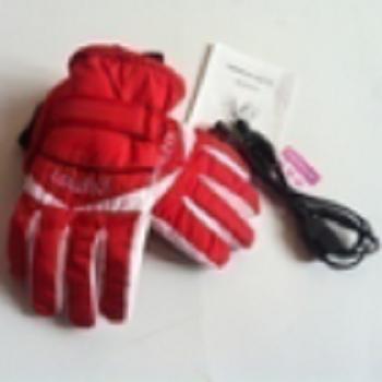 冬季电动车防风防水五指发热电加热保暖手套