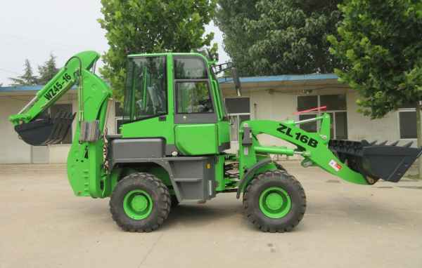 单手柄机械先导WZ45-16小型挖掘装载机