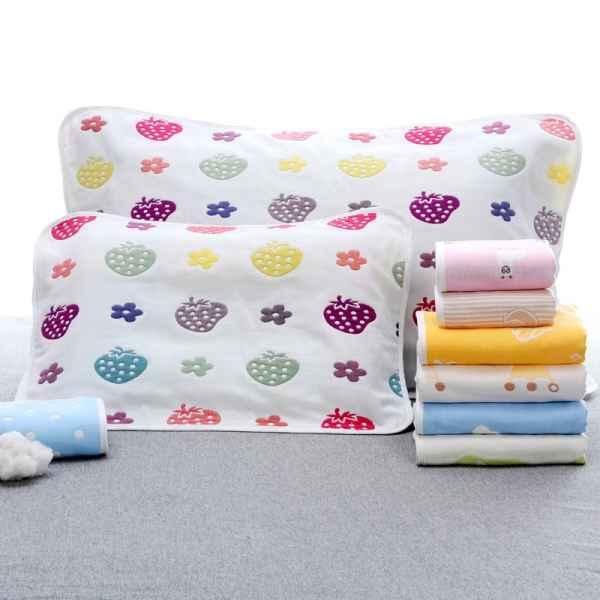 儿童纯棉纱布枕巾