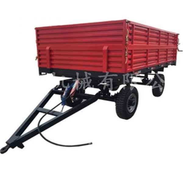 四轮拖车 拖斗 自卸后翻拖车价格 造农用拖车的厂家
