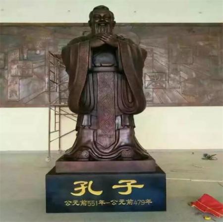 校园摆放大型铸铜孔子雕像