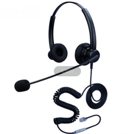 合镁双耳头戴式话务耳机降噪耳麦
