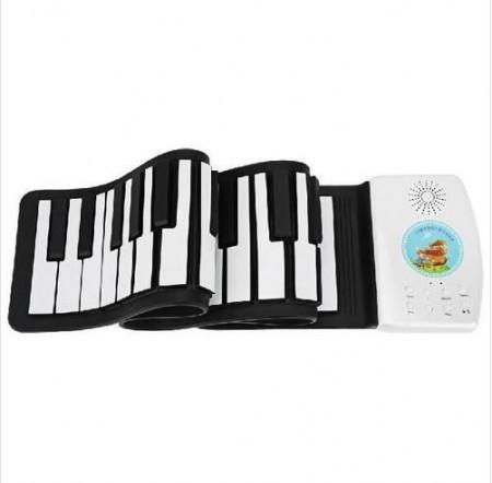 49键可充电儿童手卷钢琴
