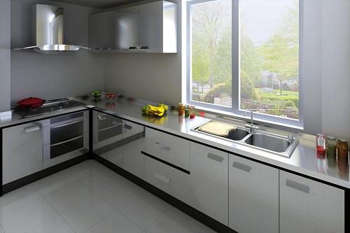 厨房橱柜设计图平立面展示