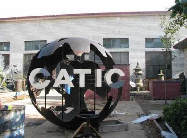 囍字logo雕塑