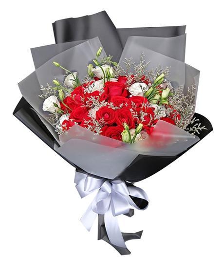 钟情于你 19朵红玫瑰花束
