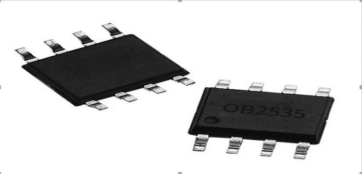 OB2535SOP8开关电源单芯片 OB2535是高性能开关电源单芯片,内含PWM控制器与高耐压的MOSFET管,采用原边控制方案,即芯片的反馈信号来自原边,无需光耦和稳压器TL431等元件,电路简单,输出功率小于15W,常用于液晶电视的待机电源或数码产品的电源适配器中。封装形式:采用SOP8封装。 OB2535SOP8开关电源单芯片