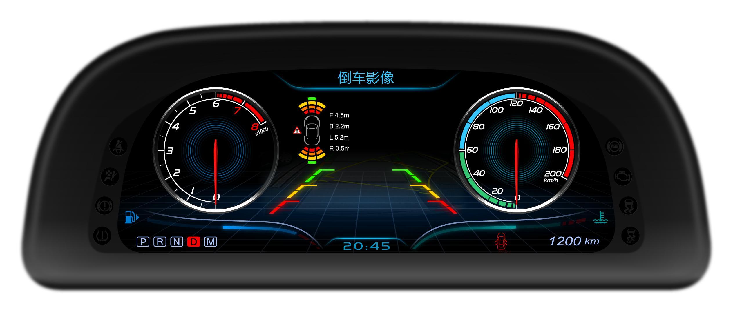 汽车虚拟仪表盘方案