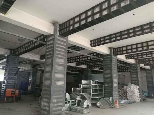 框架结构柱粘钢加固工程
