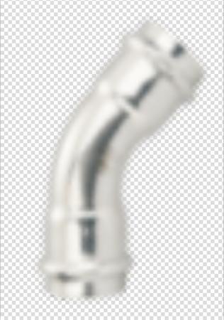 不锈钢水管45°A弯头