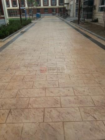 水泥压花地坪
