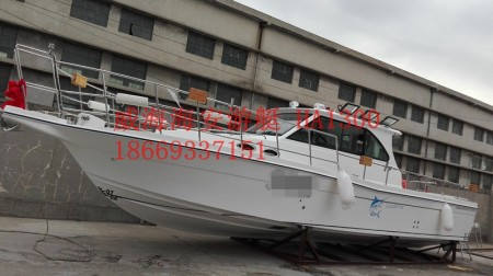 专业海钓船玻璃钢海钓船厂私人钓鱼船13米船订制