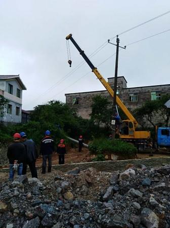 贵阳清镇市10kV卫镇线立杆工程