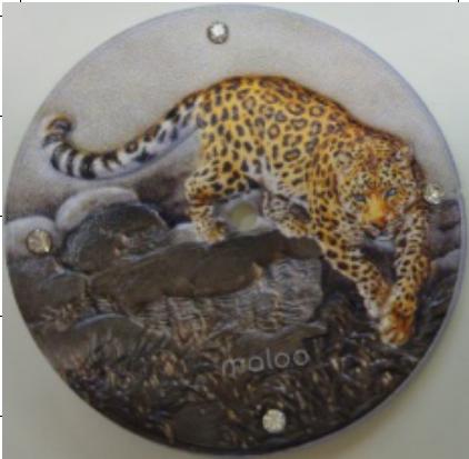 3D打印油压底纹镶钻手表表盘