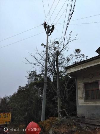 贵阳清镇市10kVs211高山变移杆改线工程