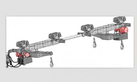 布拓传动生产的液压葫芦主要配套于单轨吊机车液压起吊梁,为煤矿井下图片