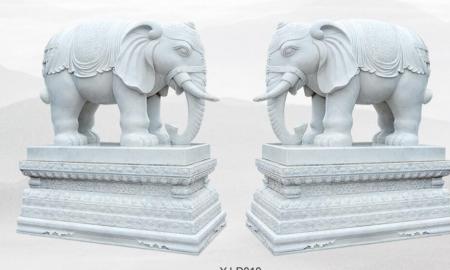 福建石雕六牙白象