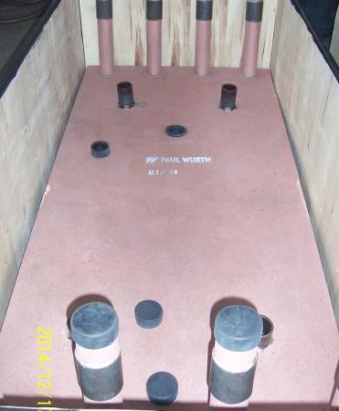 炼钢电炉纯铜冷却壁