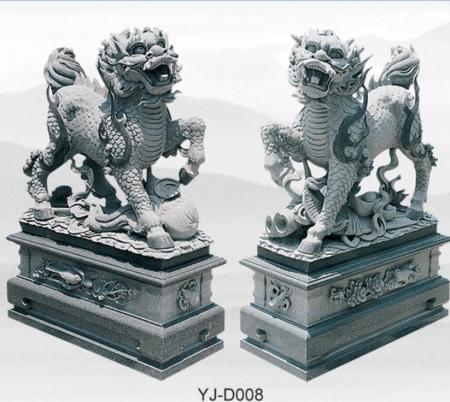 福建石雕麒麟雕刻