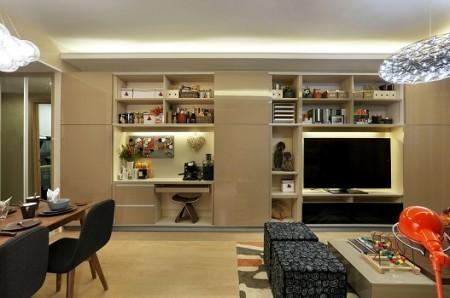 客厅书柜兼电视柜