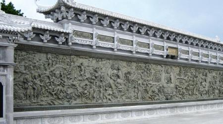 福建浮雕照壁九龙壁雕刻