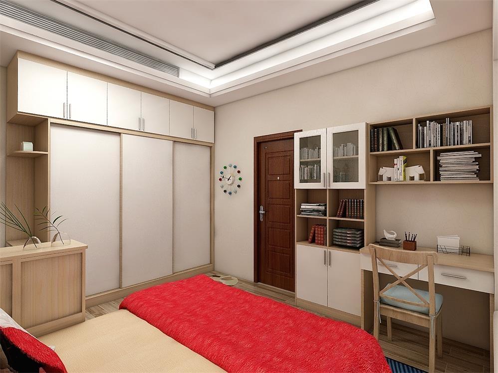 卧室衣柜书柜书桌