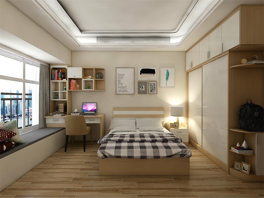 卧室趟门衣柜书柜