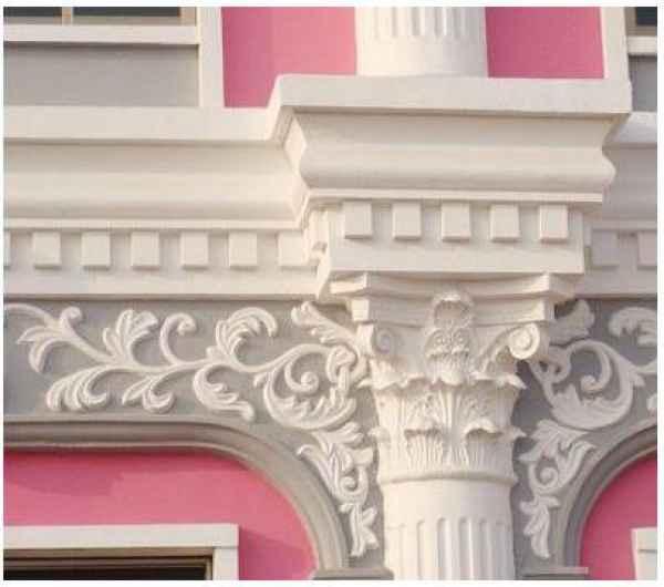 河北欧式构件厂家 欧式构件,又名GRC欧式装饰构件。是国外七十年代发明并广泛应用的一种复合材料。它是由快硬硅酸盐水泥和抗碱玻璃纤维掺入适量添加剂制成的一种新型复合材料。它集轻质、高强、高韧性和耐水、不燃、隔音、隔热、易于加工等特性于一体,在建筑材料中拥有独特的地位。
