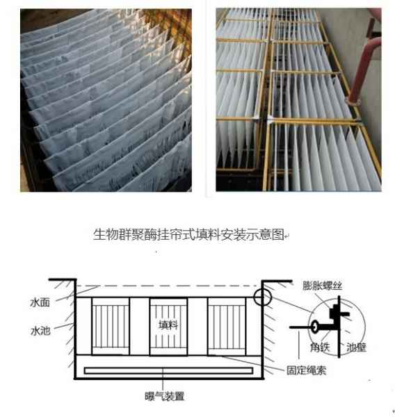 北京生物群聚酶挂帘式填料