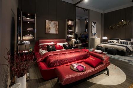 赵薇设计款温斯顿布艺床智能五星睡眠系列沙发
