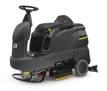 小型驾驶式洗地吸干机