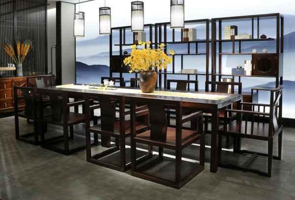 乌金木餐厅家具