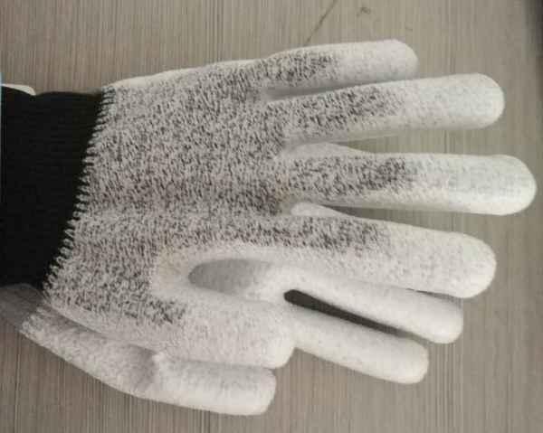 13针5级防切割PU浸掌手套