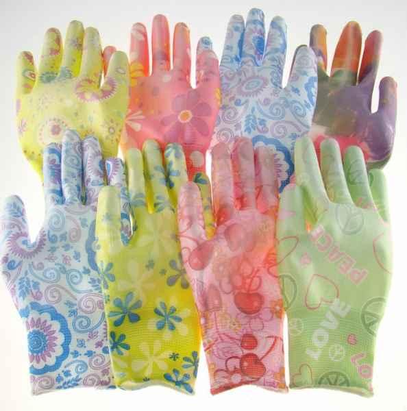 金五指13针涤纶印花手套