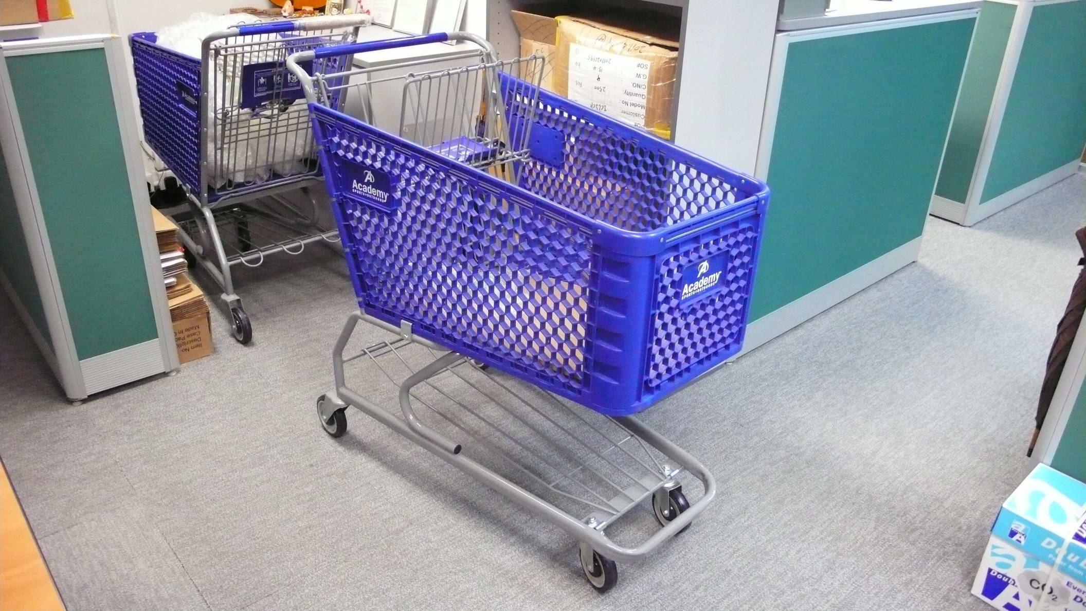 美国款180L塑料超市购物车