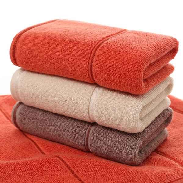 保定素色经典横条纯棉毛巾/素色经典横条纯棉毛巾厂家直销