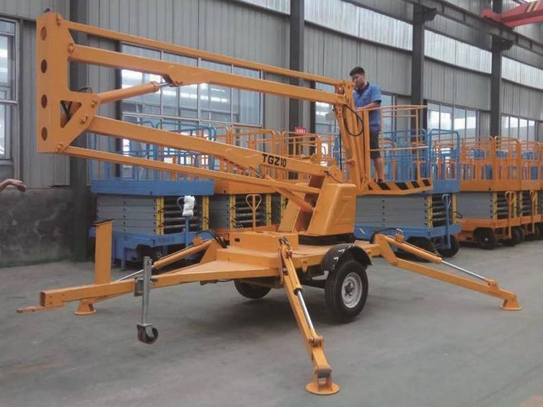 拖车折臂式升降作业平台
