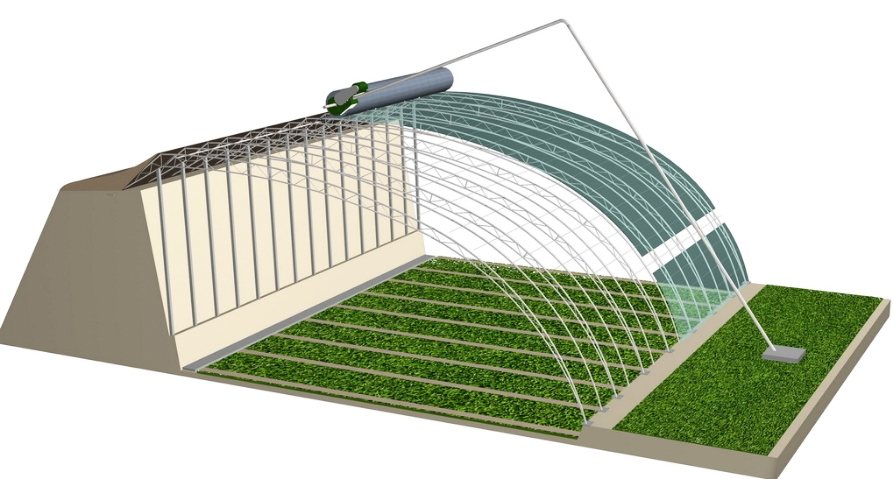 立柱式日光温室