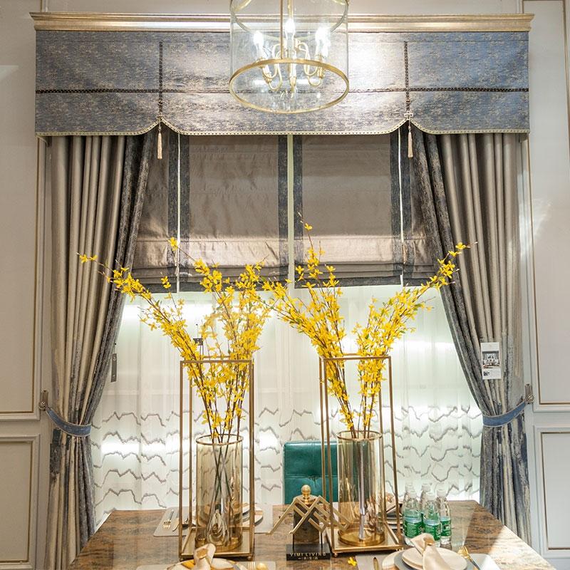 一米新中式现代窗帘图片